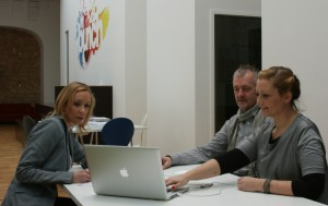 Bei bunch: Pia Heldermann, Janine Baier, Thomas Braun